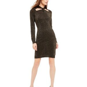 NWT MICHAEL Michael Kor's Twist-Neck Sweater Dress